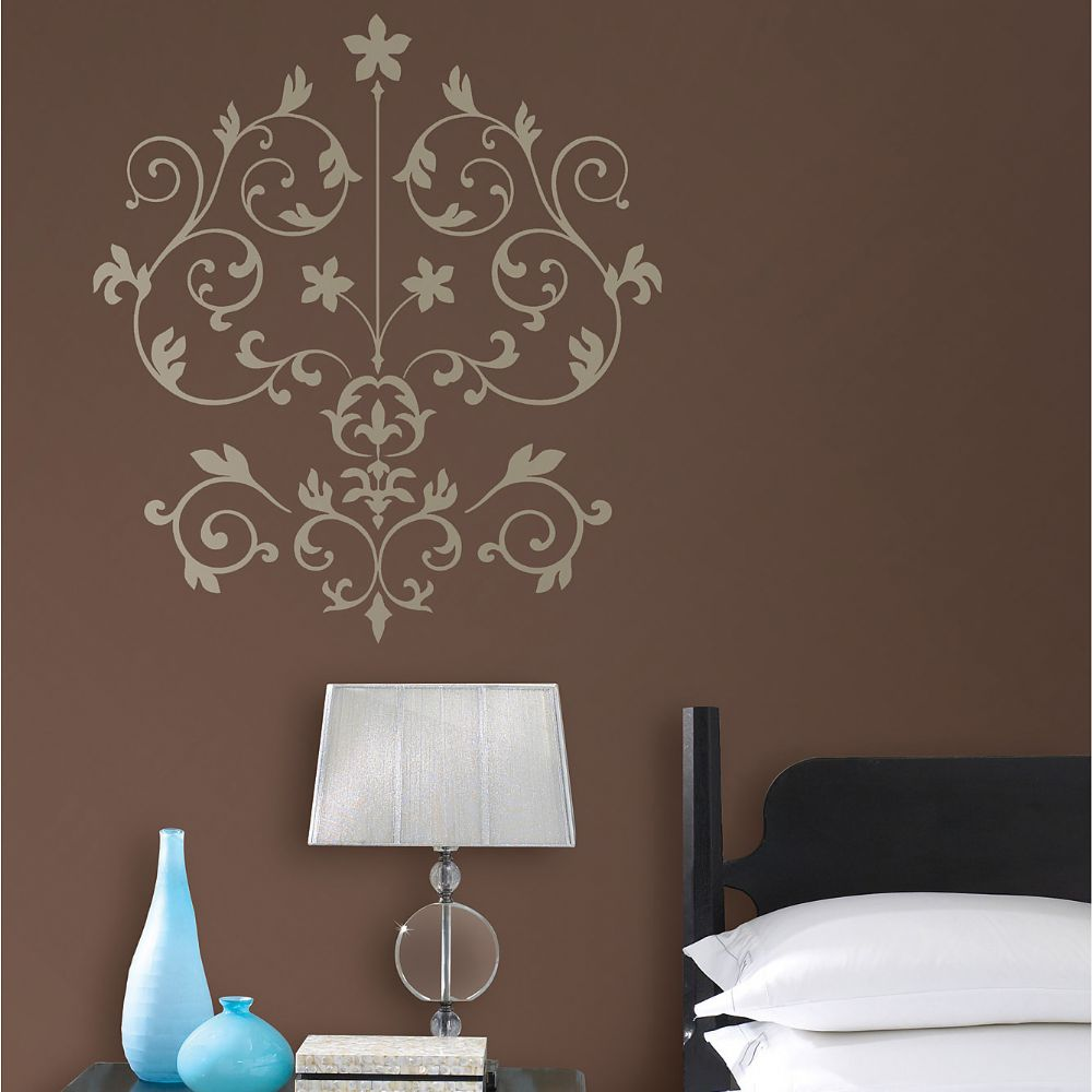 Gorgeous Nouveau Damask Wall Art Sticker Kit